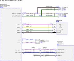 Audio wiring diagram for 2011 edge w/sony 12 speaker & nav - Audio ...