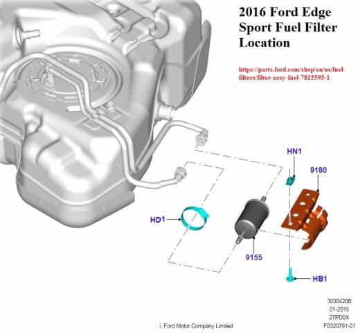 2016 Ford Edge Sport External Fuel Filter