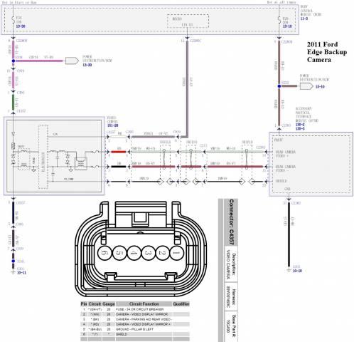 2011 Edge Backup Camera Wiring Schematics