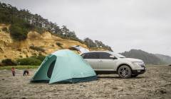 Camping on the NW beach