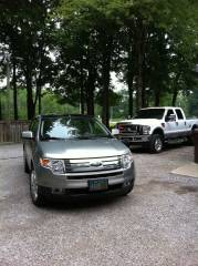 The soccer mom mobile and the big boy truck