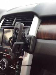 KUDA® OEM Leather-Mount - iPhone GPS handsfree - for FORD EDGE (since 2011)