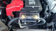Amplifier fuse holder upgrade and custom bracket