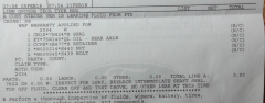 Invoice for PTU seal repalcement