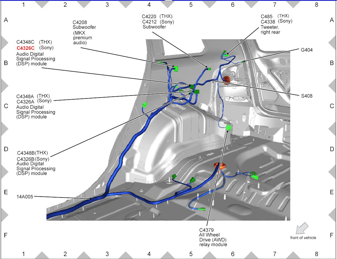 Ford Factory Stereo Wiring Diagram Ford Edge Wiring Diagram