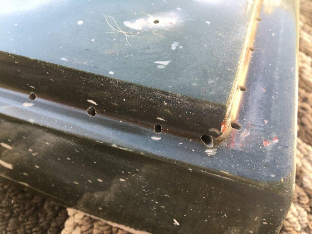 V3 adaptor mold holes are drilled.JPG