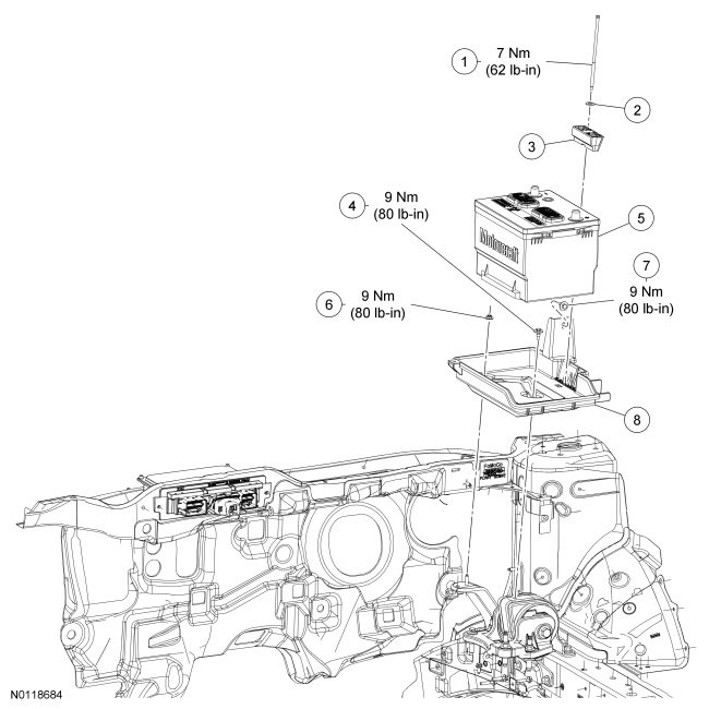 Battery and Tray Removal - 2013 Edge SEL - Exploded View.jpg